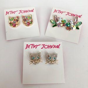 Betsey Johnson Cat Lovers Earring Bundle